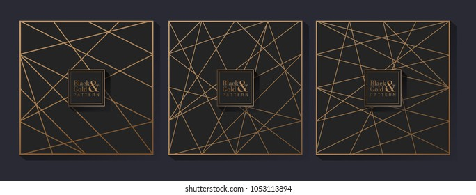 Black and gold geometric pattern