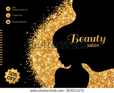 black gold glowing flyer template fashion stock vector royalty free