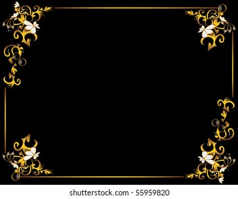 Black gold gray background design 1 - vector