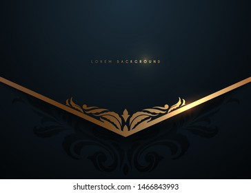 Black and gold luxury template background