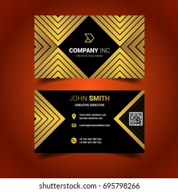 Black And Gold Squared Business Card