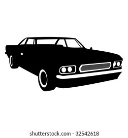black gradiented car, vector illustration