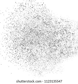 Black grainy texture isolated on white background. Particles  overlay textured. Grunge design elements. Vector illustration,eps 10.