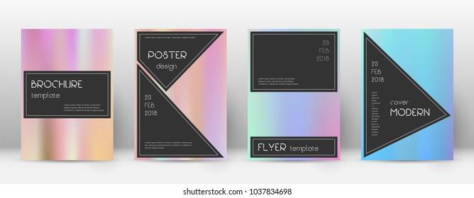 Black grand template for Brochure, Annual Report, Magazine, Poster, Corporate Presentation, Portfolio, Flyer. Admirable pastel hologram cover page.