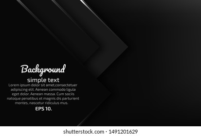 Black and gray abstract vector background Modern creative geometric design ideas For invitation cards or online media