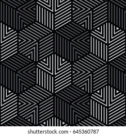 black and gray geometric pattern abstract vector background. Modern stylish texture.