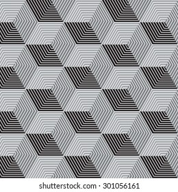 Black and gray graphic pattern vector illustration . Modern stylish texture.