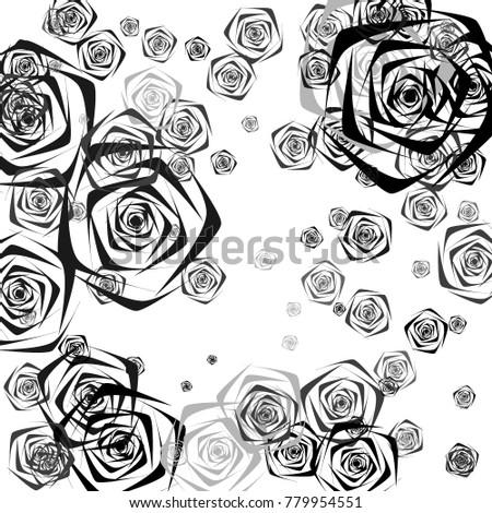 Black Gray Roses Different Sizes On Stockvector Rechtenvrij