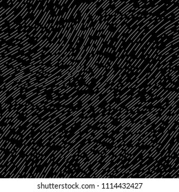 Black and gray textured diagonal lines fabric seamless pattern, vector