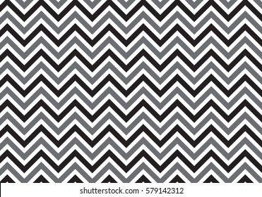 black and gray vintage zigzag chevron pattern vector
