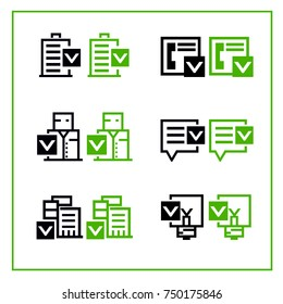 black and green icons for site web