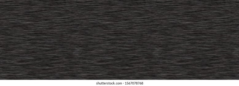Black Grey Marl Heather Border Texture Background. Faux Cotton Fabric with Vertical T Shirt Stripe. Vector Pattern Design. Dark Gray Melange Space Dye Edging Trim for Textile Effect. Vector EPS 10
