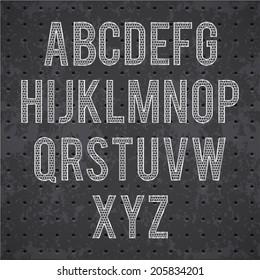 black grille font