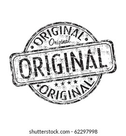 Black grunge rubber stamp with the word original written inside the stamp