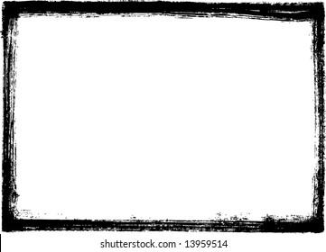 Black grungy frame
