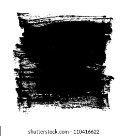 Black grungy vector abstract hand-painted background