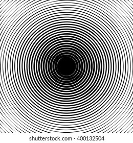 Black halftone circle pattern useful as abstract sound vibration. Vector illustration