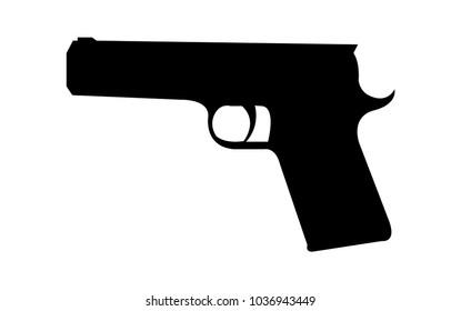 Black handgun pistol silhouette
