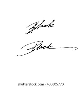 Black handwritten phrase isolated on white background