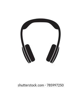 black headphones icon- vector illustration