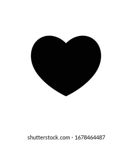 Black Heart Icon for Graphic Design Projects