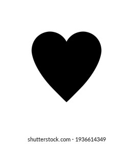 Black heart icon. Vector illustration