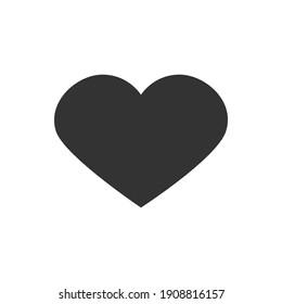 Schwarzes Herz. Vektorsymbol.