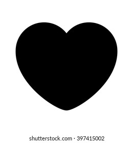black heart outline black line
