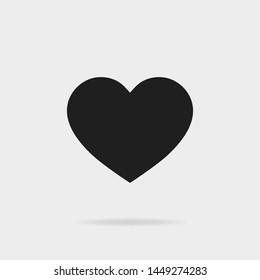 Black heart shape.Like icon of black heart. Social media icon for for Instagram.vector eps10