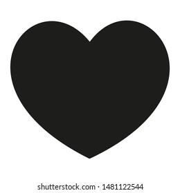 Black heart symbol isolated icon