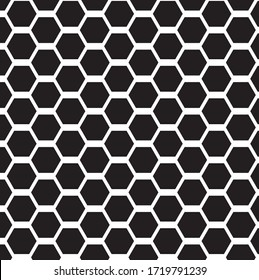 The black hexagon pattern for your textile mill.