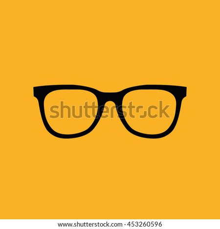 d7eef083b9c Black Hipster Glasses Vector Illustration Yellow Stock Vector ...