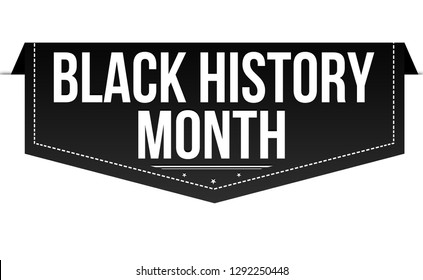 Black history month banner design on white background, vector illustration