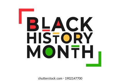 Black History Month banner. Vector illustration of design template for national holiday poster or card. Annual celebration in february in USA and Canada, october in UK