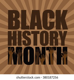 Black History Month burst design. EPS 10 vector.