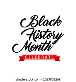 Black History Month Celebration Vector Template Design