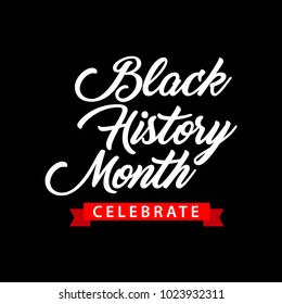 Black History Month Celebration Vector Template Design