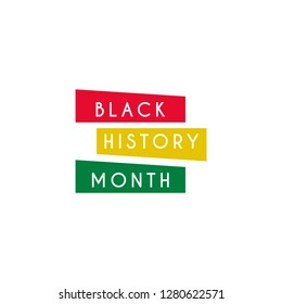 Black history month design template. Vector eps 10