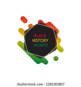 Black history month design template. Vector eps 10