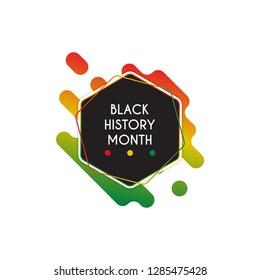 Black history month design template. Vector illustration eps 10