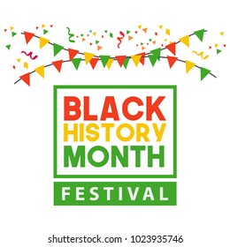 Black History Month Festival Vector Template Design