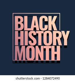 Black History Month Logo design. Vector illustration.