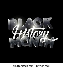 Black History Month Logo Design. Black History Month Greeting Card Design Template.