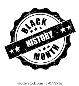 Black History Month stamp design. For celebration and recognition in the month of February. EPS 10 vector.