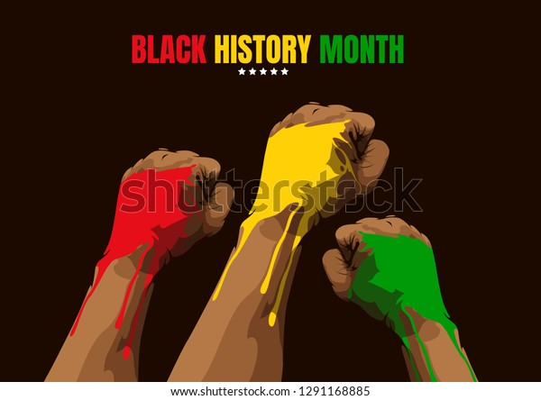 Black History Month Template Background Vector Stock Vector Royalty Free 1291168885