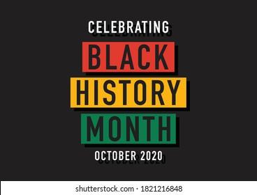 Black history month (UK) October 2020 vector illustration