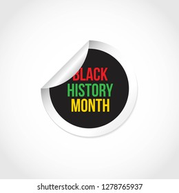 Black history month vector design template