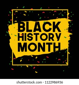 Black History Month Vector Template Design Illustrator