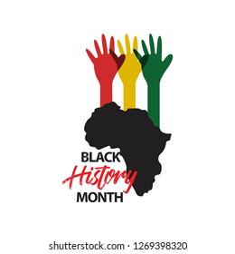 Black History Month Vector Template Design Illustration