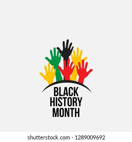 Black history month vector template